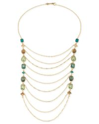 Carolee | Metallic Gold-tone Crystal Draped Chain Statement Necklace | Lyst
