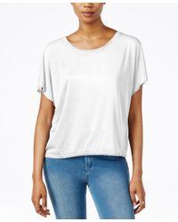 RACHEL Rachel Roy | White Split-back Short-sleeve Top | Lyst