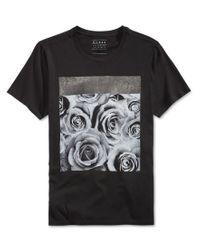 Guess Men 39 S Roses Graphic Print T Shirt In Black For Men