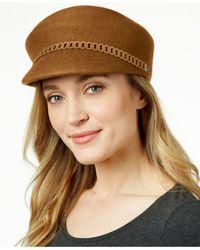 Nine West | Natural Felt Newsboy Hat | Lyst