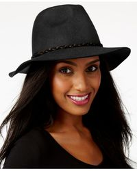 Nine West   Black Felt Rancher Hat   Lyst