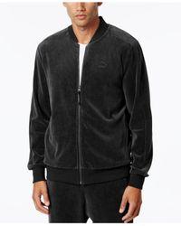 PUMA | Black Men's Velour T7 Jacket for Men | Lyst