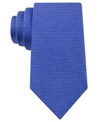 Michael Kors - Blue Michael Men's Chain Links Geo-pattern Classic Tie for Men - Lyst