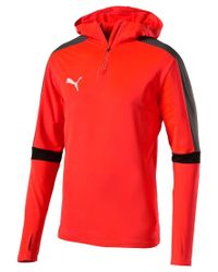 PUMA | Red Men's Evotrg Drycell Quarter-zip Hoodie for Men | Lyst