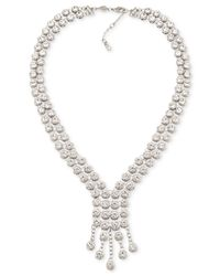 Carolee   Metallic Silver-tone Multi-crystal Collar Necklace   Lyst