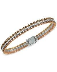 Le Vian | Multicolor Chocolatier Diamond Tri-tone Bracelet (3-9/10 Ct. T.w.) In 14k Yellow, White And Rose Gold | Lyst