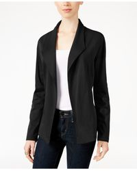Style & Co. | Black Knit Blazer, Only At Macy's | Lyst
