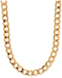 Macy's | Metallic Men's Curb Link (7mm) Chain Necklace In 10k Gold for Men | Lyst