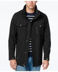 Izod | Black Men's Long Soft-shell Jacket for Men | Lyst