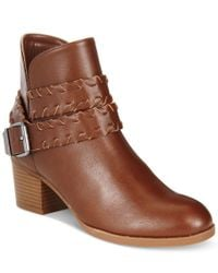Style & Co. | Brown . Dyanaa Booties, Only At Macy's | Lyst