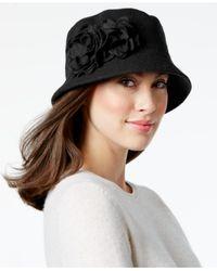 Nine West   Black Knit Microbrim Hat   Lyst
