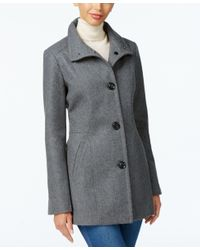 INC International Concepts | Gray Stand-collar Peacoat, Only At Macy's | Lyst