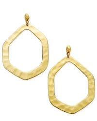 INC International Concepts - Metallic Large Hammered Geometric Gypsy Hoop Earrings, Only At Macy's - Lyst