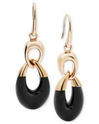 Michael Kors | Metallic Colorblocked Teardrop Earrings | Lyst