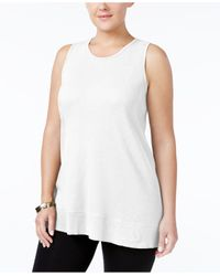 Style & Co. | White Plus Size High-low Tank Top, Only At Macy's | Lyst