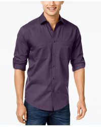 Alfani Purple Men's Maxwell Long-sleeve Shirt for men
