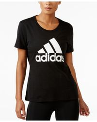 Adidas Originals | Black Logo T-shirt | Lyst