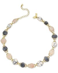 kate spade new york | Metallic Gold-tone Multi-stone Link Collar Necklace | Lyst