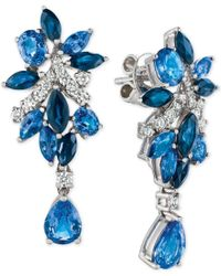Le Vian | Blue Precious Collection Sapphire (5-1/5 Ct. T.w.) And Diamond (3/8 Ct. T.w.) Drop Earrings In 14k White Gold, Only At Macy's | Lyst