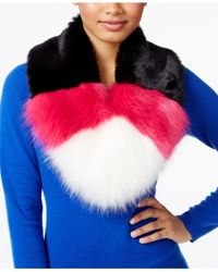 Betsey Johnson | Pink Xox Trolls Faux-fur Colorblocked Muffler, Only At Macy's | Lyst