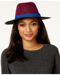INC International Concepts | Blue Colorblock Panama Hat, Only At Macy's | Lyst