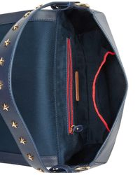 Tommy Hilfiger | Blue Effortless Chic Star-studded Small Saddle Bag | Lyst