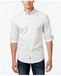 Michael Kors   White Men's Landon Geo-print Long-sleeve Shirt for Men   Lyst