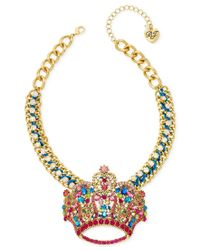 Betsey Johnson | Metallic Xox Trolls Crown Pendant, Only At Macy's | Lyst