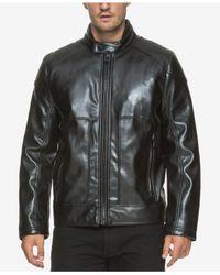Marc New York   Black Men's Sedgwick Faux Leather Moto Jacket for Men   Lyst