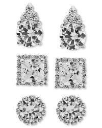 Giani Bernini | Metallic 3-pc. Set Cubic Zirconia Pavé Stud Earrings In Sterling Silver | Lyst