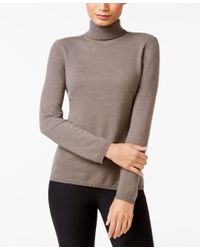Charter Club Multicolor Cashmere Turtleneck Sweater, Only At Macy's