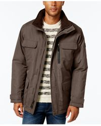 London Fog | Brown Big & Tall Military Puffer Coat for Men | Lyst