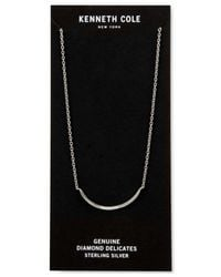 Kenneth Cole - Metallic Curved Diamond Accent Bar Collar Necklace - Lyst