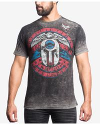 Affliction - Black Men's Graphic-print T-shirt for Men - Lyst