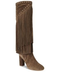 INC International Concepts   Brown Women's Tolla Tall Fringe Boots, Only At Macy's   Lyst