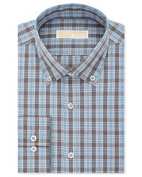 Michael Kors | Blue Men's Classic-fit Non-iron Smokey Quartz Check Dress Shirt for Men | Lyst