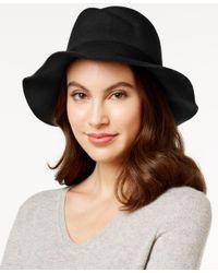 Vince Camuto   Black Asymmetrical Panama Hat   Lyst