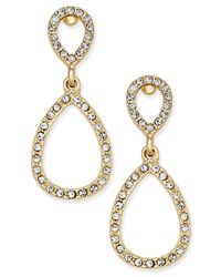 INC International Concepts | Metallic Pave Teardrop Drop Earrings, Only At Macy's | Lyst