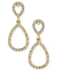 INC International Concepts   Metallic Pave Teardrop Drop Earrings, Only At Macy's   Lyst