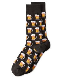 "Hot Sox | Black Men's ""beer"" Socks for Men 
