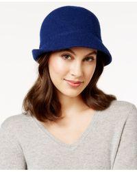 August Accessories | Blue Melton Love Asymmetrical Cloche | Lyst