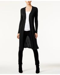 INC International Concepts | Black Ribbed Duster Cardigan, Only At Macy's | Lyst