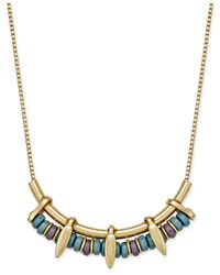 INC International Concepts | Metallic Gold-tone Beaded Linear Bib Necklace | Lyst