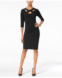 INC International Concepts | Black Cutout Sheath Dress, Only At Macy's | Lyst