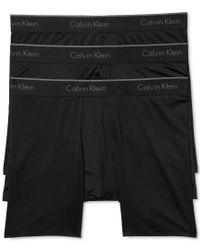 Calvin Klein | Black Men's 3 Pack Microfiber Stretch Boxer Briefs for Men | Lyst