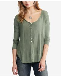 Denim & Supply Ralph Lauren - Green Rib-knit Henley - Lyst