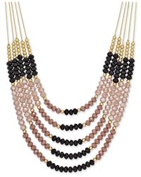 INC International Concepts | Metallic Gold-tone Multi-bead Layered Necklace, Only At Macy's | Lyst
