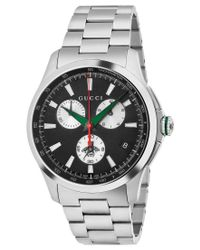 Gucci | Metallic Men's Swiss Chronograph G-timeless Stainless Steel Bracelet Watch 44mm Ya126267 for Men | Lyst