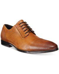 Alfani Brown Men's Comfort Monroe Cap Toe Oxfords, Only At Macy's for men