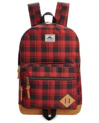 Steve Madden | Red Men's Buffalo Plaid Classic Backpack | Lyst